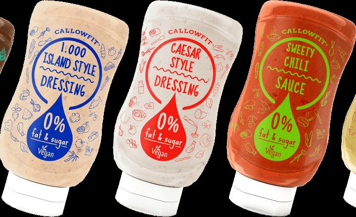 Callowfit sauzen, 0% vet en 0 % suiker!